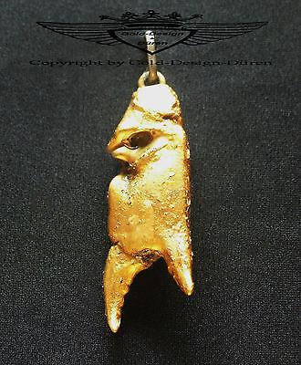 Kettenanhänger, ECHTE Krebs Schere, 24 Karat vergoldet, Handarbeit