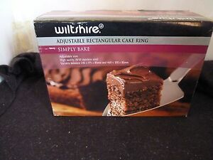 Other Baking Accessories Baking Accs. & Cake Decorating Wiltshire Adjustable Rectangular Cake Ring 18/10 Stainless Steel Mew Without Return
