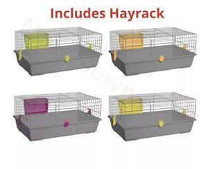 Jaula-conejo-interior-nivel-unico-Pequeno-Animal-Mascota-Hogar-Rata-conejillo-de-indias-Hutch-House