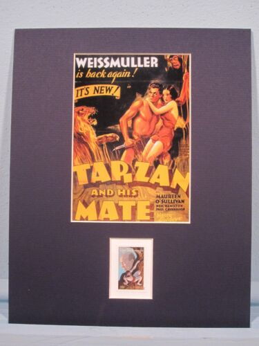 Johnny Weissmuller in Tarzan and His Mate /& the Edgar Rice Burroughs stamp