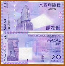 Macao / Macau 20 Patacas, 2010, P-81-New, BNU, UNC