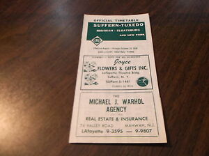 OCTOBER-1958-ERIE-RAILROAD-SUFFERN-NY-TUXEDO-NY-OFFICIAL-TIMETABLE