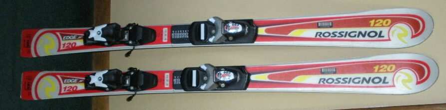 ROSSIGNOL EDGE Jr 120cm-47 1 4  DOWNHILL SKIS,+ROSSIGNOL COMP BINDINGS,VERY NICE