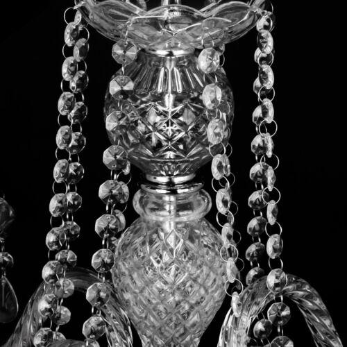 4 Arm Crystal Chandelier Ceiling Lights Candle Pendant Hanging Suspension Lamp