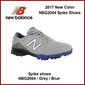 f18a41f02573c 2017 New Balance Men's Golf Shoes NBG2004 Grey Blue Spike golf shoes ...