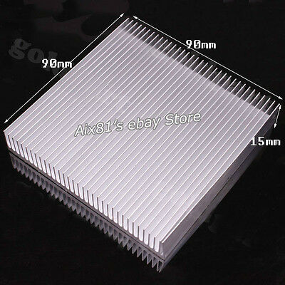 90x90x15mm Aluminum Heatsinks Heat Sink for LED Power IC Transistor