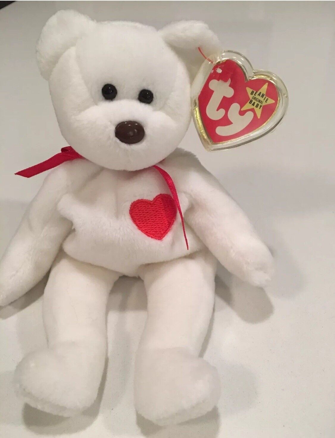 Retired Ty Valentino Beanie Baby Rare with Brown Nose and Multiple Errors