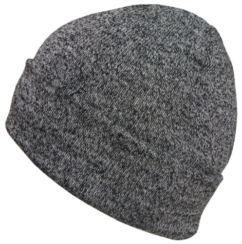 Mens Womens Oversized Beanie Hat Winter Wooly Knitted Slouch Marl Beanie Ski Hat