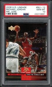 1998 Upper Deck Lineage #MJ12 MICHAEL JORDAN Mr. June PSA 10 GEM MINT POP 1