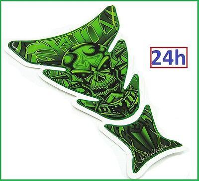 Protection de Réservoir MOTO Sticker adhésif autocollant Devil Crâne Diable VERT