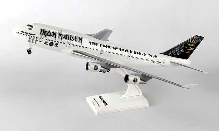 Iron Maiden boeing 747-400 1 200 avión modelo nuevo b747