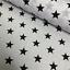 "Orange /& Black 44/"" Wide Star Polycotton Fabric"