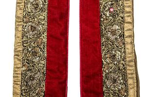 Vintage-Indian-Sari-Border-1Yd-Women-Antique-Sari-Trim-Ribbon-Embroidered-ST2515