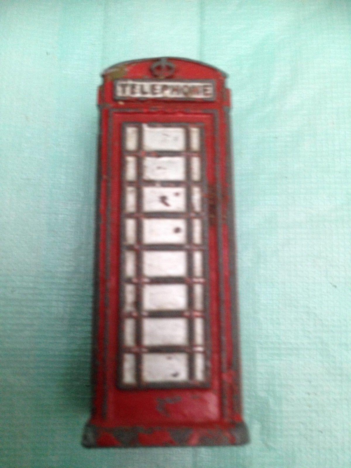 Vintage Dinky Telephone Box 12c