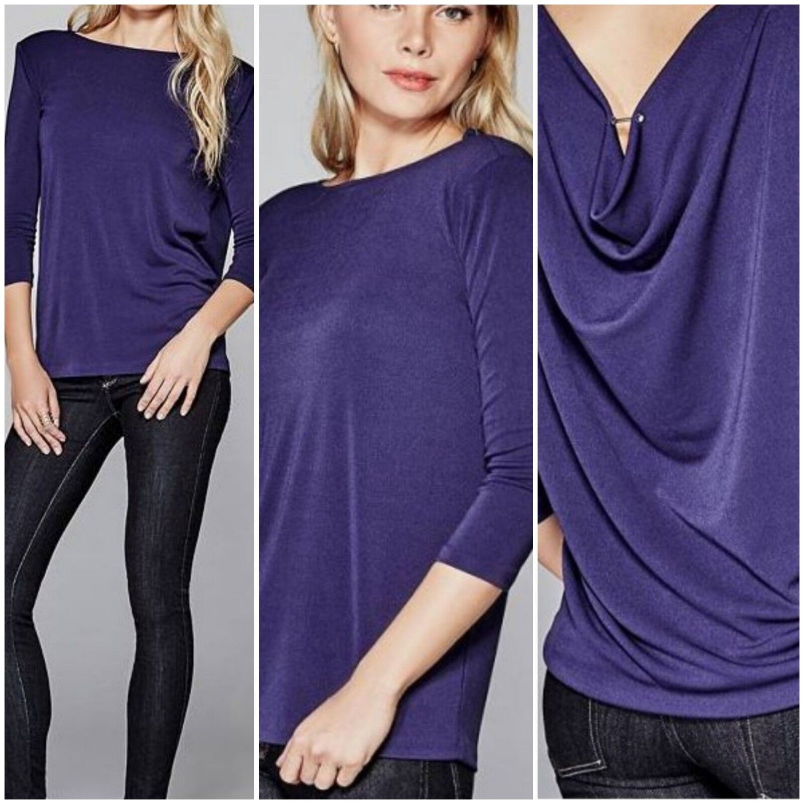 NWT Guess by Marciano Three-Quarter Sleeve Draped Top Größe S