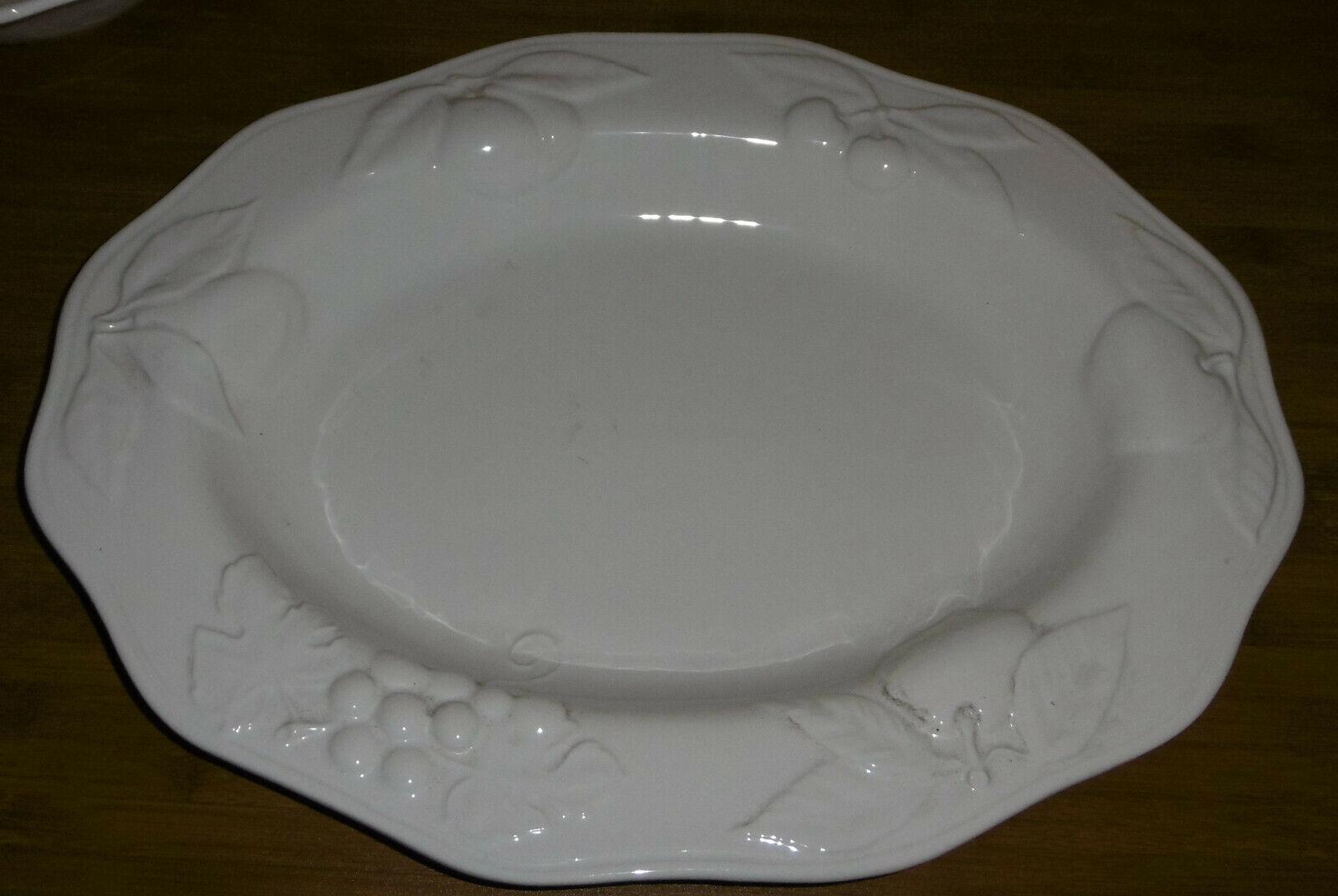 Große Platte   ServierpLatte aus Porzellan von simply Weiß Fapor Portugal