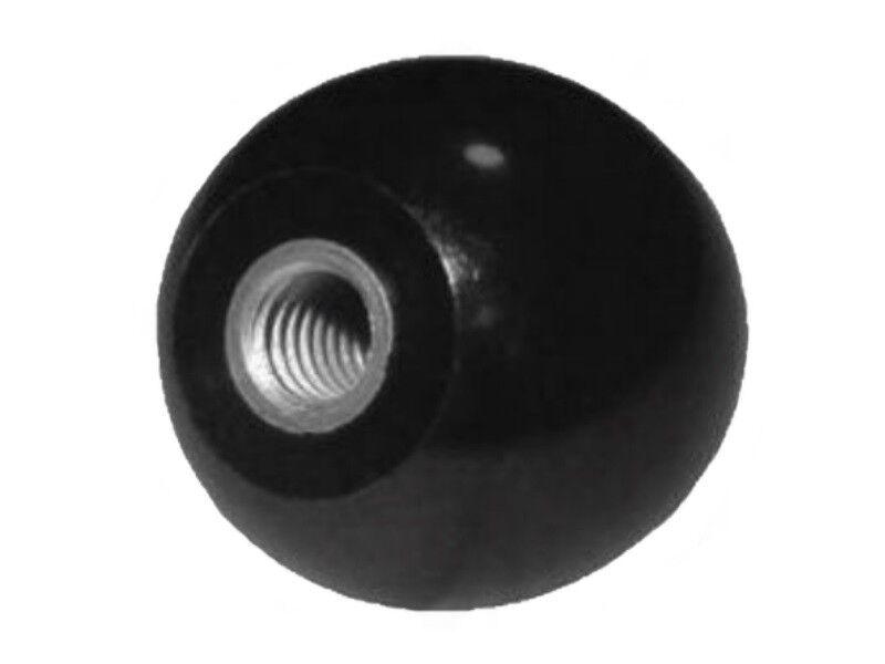 Kugelknopf M 8 - Ø 25 mm - DIN 319 - Stahlgewinde - schwarz -- MENGE wählbar (2.