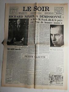 N483-La-Une-Du-Journal-Le-Soir-9-aout-1974-Richard-Nixon-a-demissionne