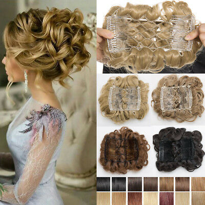 Real Soft Thick Chignon Updo 100 Real Ponytail Bun Clip In Hair Extension Piece Ebay