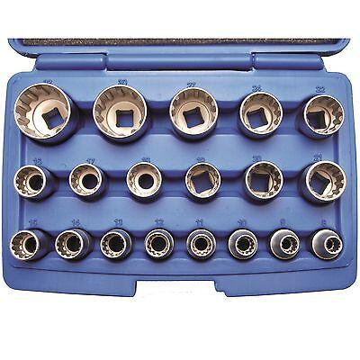 BGS gearlock Juego de llaves de zócalo exterior Torx 19 piezas Caja llaves Kit