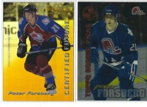 PETER-FORSBERG-10-different-Hockey-cards-LOT-including-RC-UD-Nordiques-Avs-L-k
