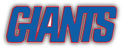 New York Giants NFL Slogan Logo Car Bumper Sticker   3/'/' 5/'/' 6/'/' or 8/'/'
