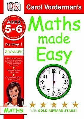 1 of 1 - Maths Made Easy Ages 5-6 Key Stage 1 Advanced (Carol Vorderman's Maths Made Easy