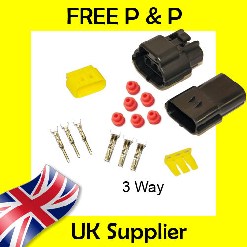 3 Way Male Female Econoseal AMP Waterproof Wiring Electrical Multi Connector