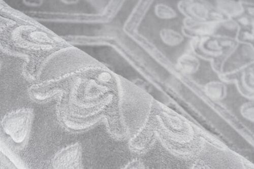 Teppich Marokkanisches Muster Ornamente Muster Teppiche Grau Silber 80x300cm
