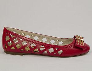 187130de409 MICHAEL KORS LARISSA BALLET RED WOMENS SLIP ON FLAT SHOES MULTIPLE ...