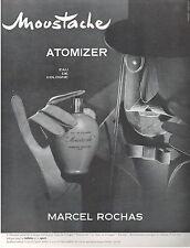 ▬► PUBLICITE ADVERTISING AD Parfum Perfume MARCEL ROCHAS Moustache Atomizer 1952