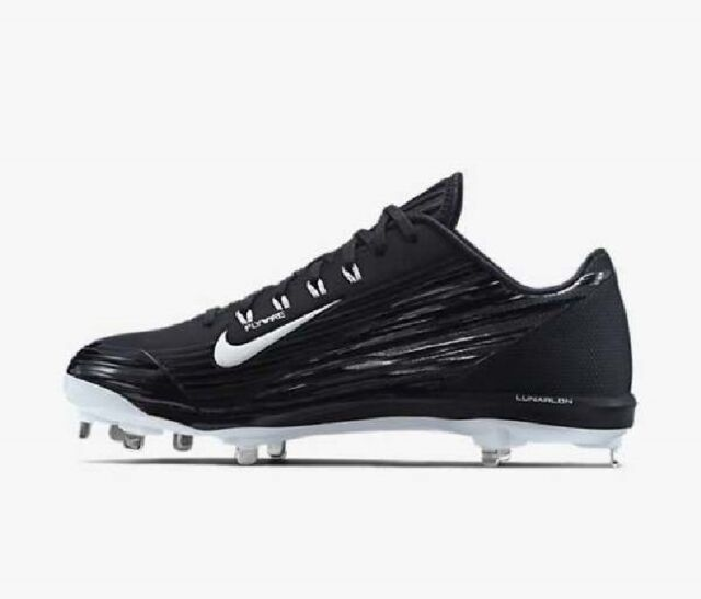 half off d568e c6b8e Nike Lunar Vapor Pro Men s Baseball Cleat Black Anthracite White Shoes sz12
