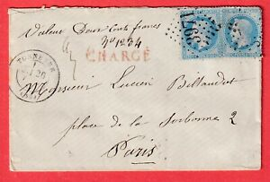 N-29X2-GC-3971-TONNERRE-YONNE-PARIS-LETTRE-CHARGE-COVER