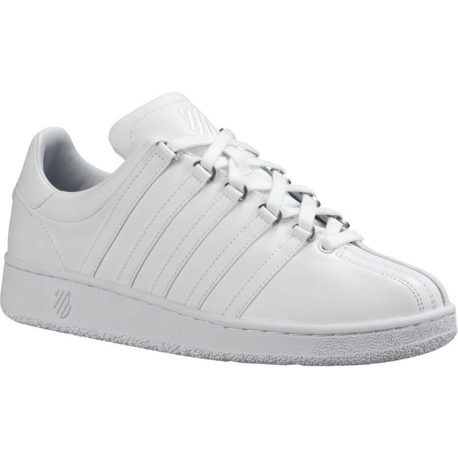 K-Swiss Classic VN VN VN 03343-101 bianca Leather scarpe da ginnastica scarpe Men 40ac5d