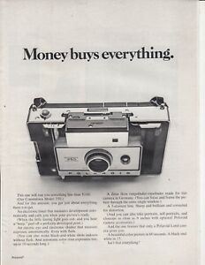 Polaroid-Model-350-Camera-Original-Magazine-Print-AD-MONEY-BUYS-EVERYTHING