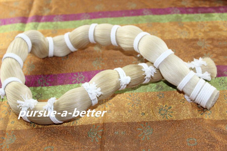 1000 g Good quality White Mongolian Horse Hair in bulk Violin Bow hair 95 cm