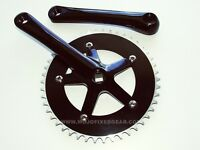 Fixed gear Single Speed Track Cranks Crankset 170mm 46t Black