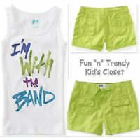 Ps Aeropostale Girls Size 12 Kids With The Band Tank Top & Shorts 2-pc Set
