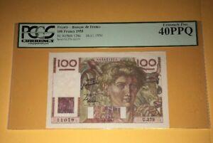 PCGS-Currency-Graded-France-Banque-De-France-100-Francs-Banknote-1950-P128c