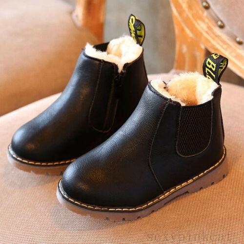Children Kid Boy Girl Spring Autumn Winter Martin Boots Snow Shoes Toddler Cozy