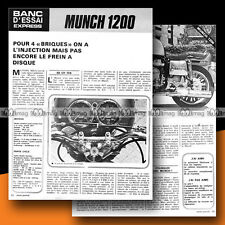 ★ MUNCH 1200 MAMMUT MAMMOUTH ★ 1973 Essai Moto / Original Road Test #b44