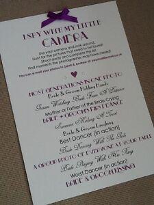 handmade personalised vintage i spy camera card sign poster wedding