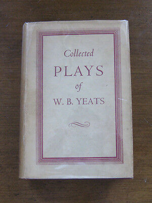 COLLECTED PLAYS of William Butler Yeats -1st/2nd UK - HCDJ VG+ 1953 Nobel Prize