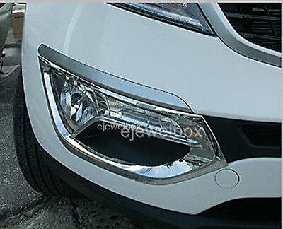 Chrome Fog Light Lamp Protector Cover Molding for 11-13 Kia Sportage +Tracking