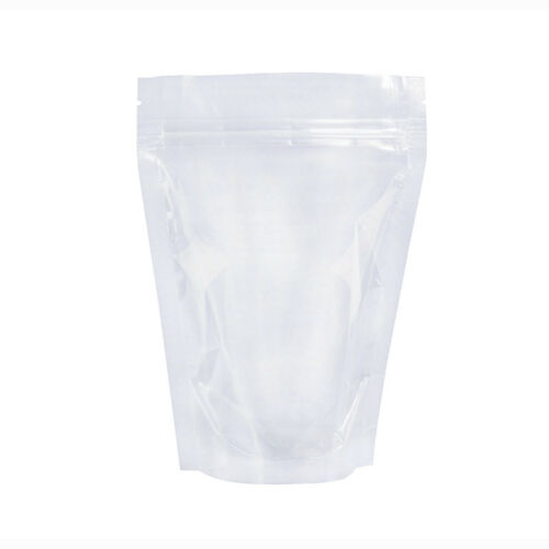 Clear Stand Up Bags Zip Lock Reusable Sealing Food Pouches Snack Packing Bag