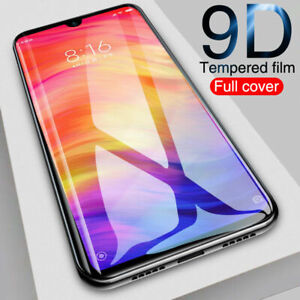 For-Xiaomi-Redmi-Note-7-9D-Curved-Tempered-Glass-Full-Screen-Protector-Black
