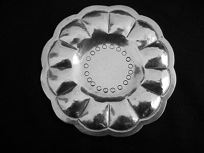 Sunflower Dish Ring Tray CASA PRIETO Mexico Sterling Silver Hand Hammered 1930/'s