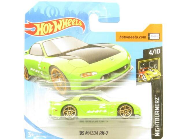Hot Wheels 95 Mazda RX-7 Nightburnerz 141/365 Short Card 1 64 Scale Sealed New