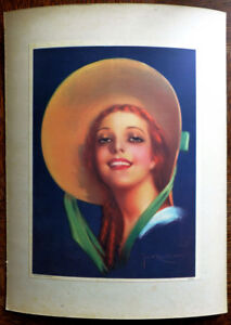 Illustrazione-Poster-Vintage-Pin-Up-1930-da-Jose-Maria-Recoder-Borras-Donna