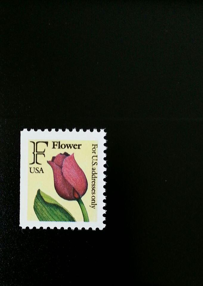 """1991 29c """"F"""" Tulip, Booklet Single Scott 2519 Mint F/VF"""